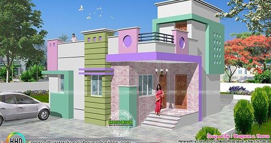 Small budget north indian style house plan in square feet by bhagwan  thorve also home bittu pinterest rh