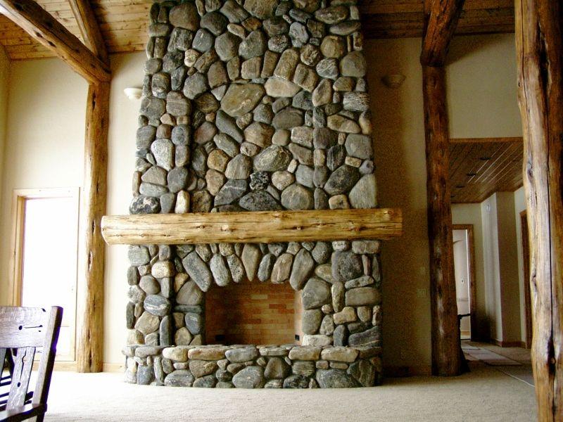 River Stone Fireplace washington bar river rock - empire stone company   winter 2015