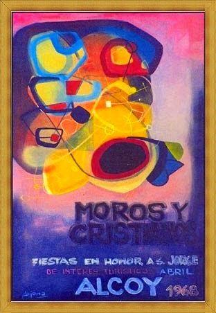 Cartel de fiestas de Alcoy 1968 Autor Manuel Solbes Arjona