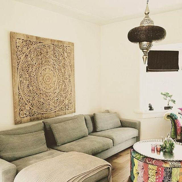 Panneau mural en bois ajouré, suspension orientale, plateau marocain ...