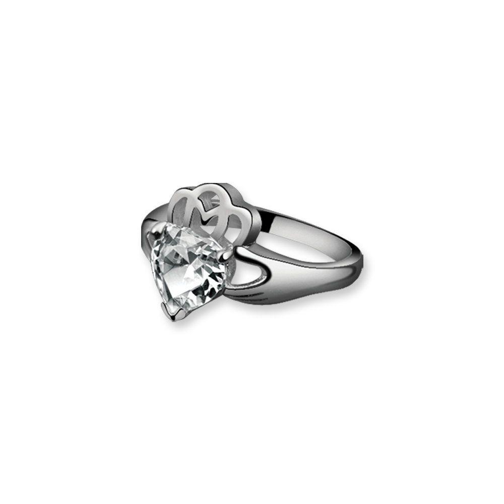 Newbridge Silverware Maureen Ohara Claddagh Ring Clear Home