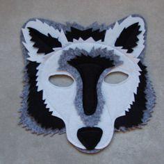 Masque en feutrine : loup