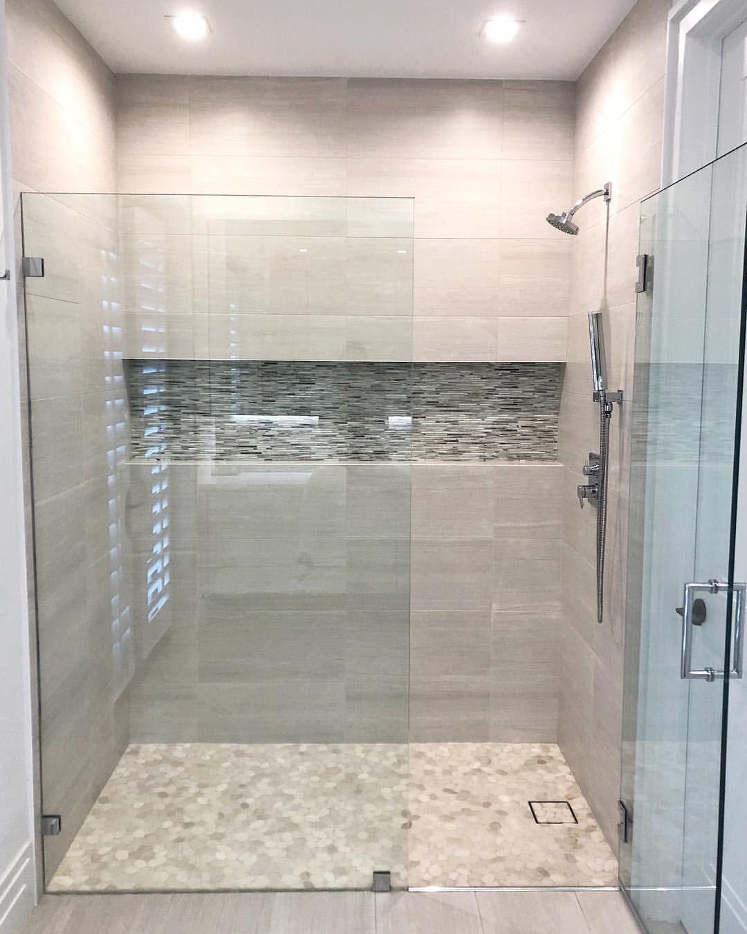 Master Bath Big Tiles Bathroom Remodel Designs Master Bathroom Tile Bathroom