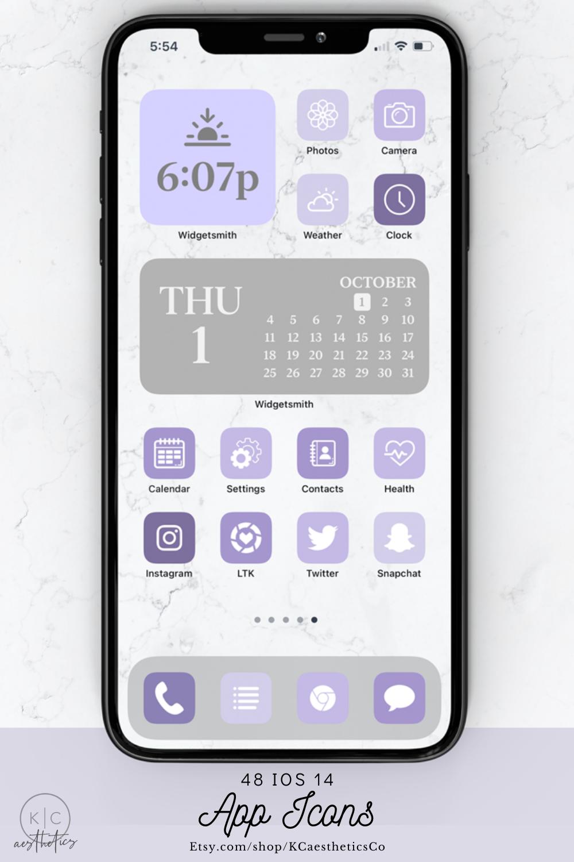 Ios 14 Icons Purple Purple Ios 14 Aesthetic App Icons Iphone Icons App Icon Iphone App Layout Homescreen