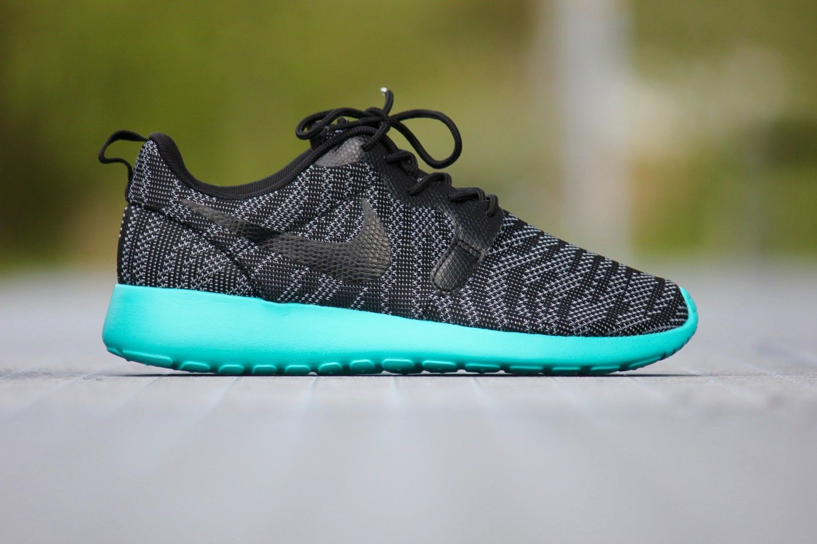 New and discount New Roshe One Knit Jacquard Black Aquamarine for Women  Shoes are available. online store shop best white roshe run at lowest  prices.