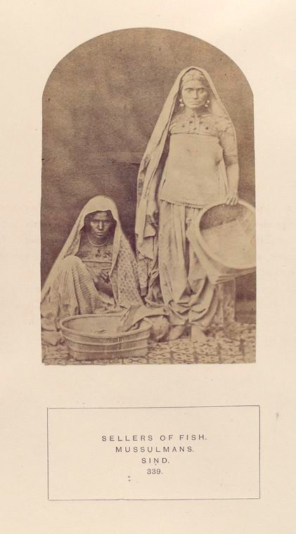 Sellers of fish, Mussulman, Sind.1872 The people of India : A series of photographic illustrations