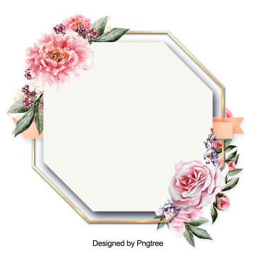 Beautiful Flowers And Leaves Painting The Border Png And Psd Beautiful Flowers Boarders And Frames Clip Art