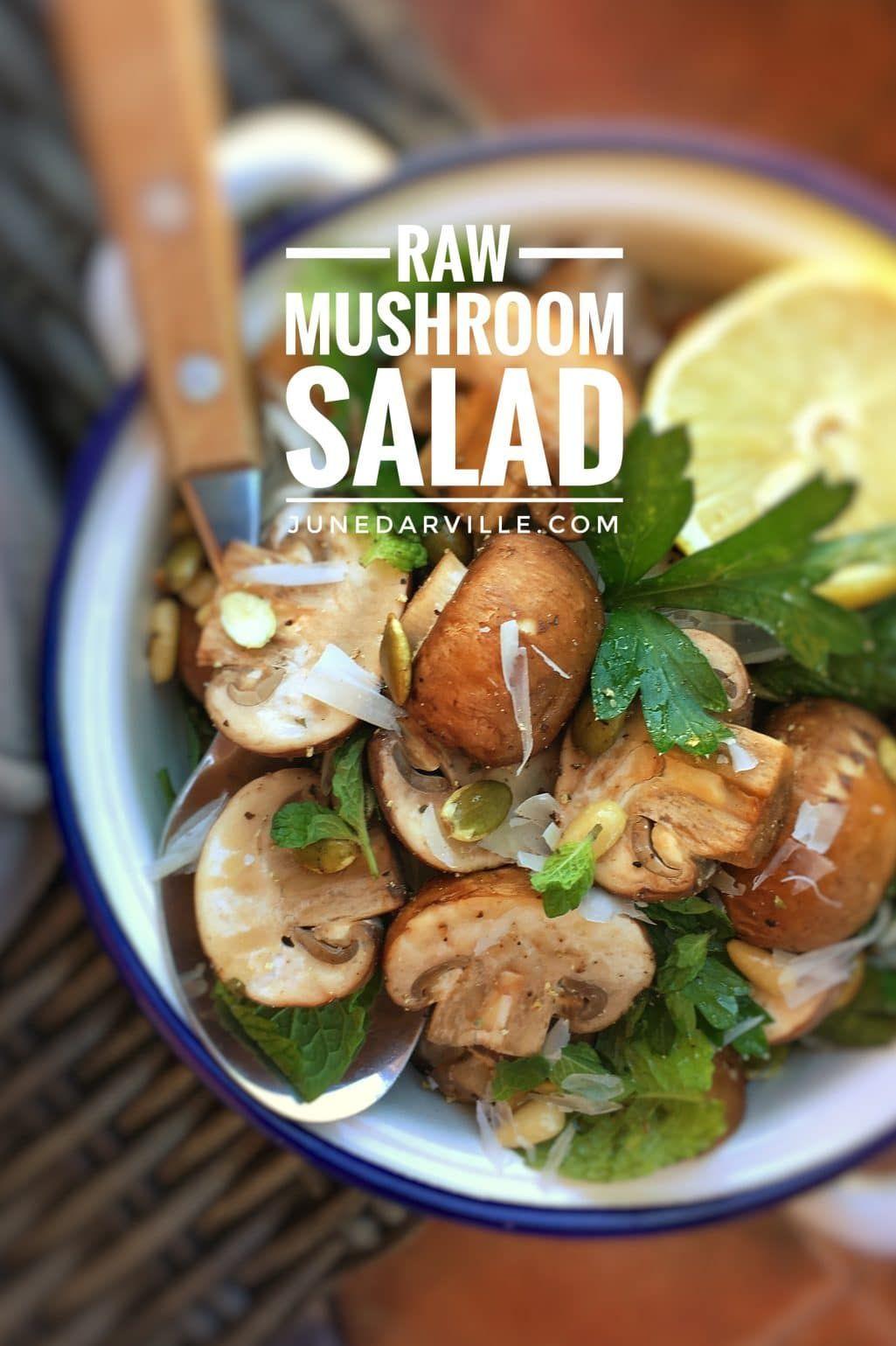 Raw Mushroom Salad Recipe