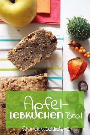 Photo of {Clean Eating} Autumn Apple Gingerbread Bread – Fit & Happy