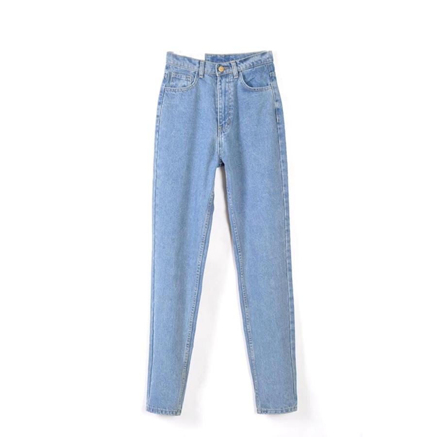 18.35$  Buy here - http://ali8fq.shopchina.info/1/go.php?t=32792628876 - 2017 Autumn Vintage Blue Black High Waist Jeans Woman Mom Boyfriend Jeans for Women Denim Pants Fashion women jeans mujer  #buymethat