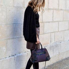 Black x burgundy