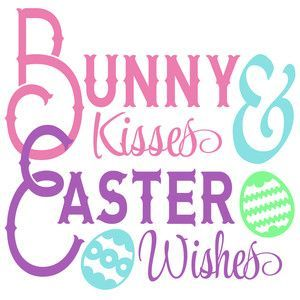 Photo of Silhouette Design Store: Bunny Kisses Easter Wishes