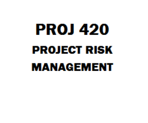 Proj  Project Risk Management Proj  Week  Course Project