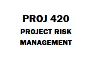 Proj  Project Risk Management Proj  Week  Course Project