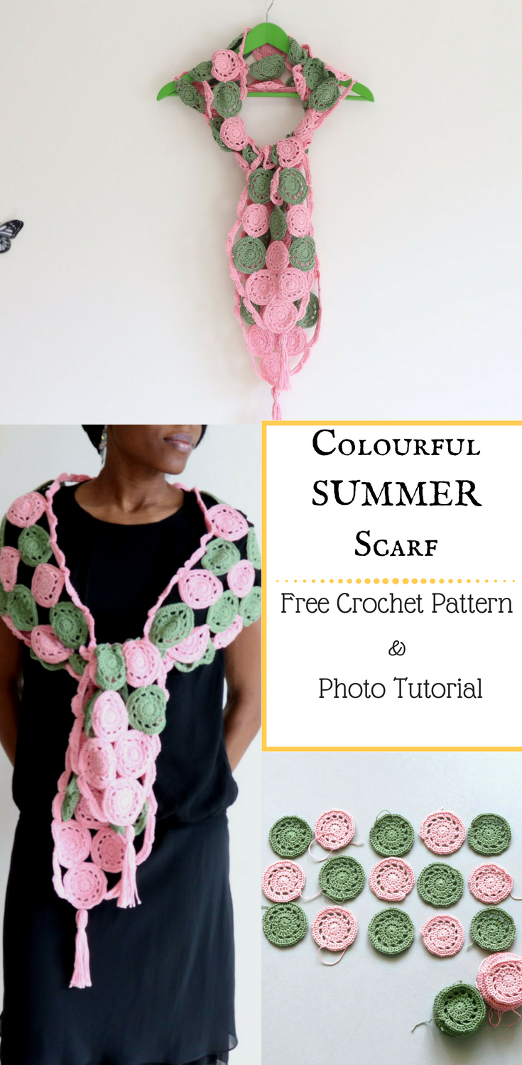 Sweet Colours Crochet Scarf- Free Pattern and Photo Tutorial ...