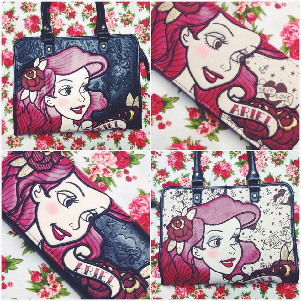Make a splash with these adorable retro Ariel wallets and totes #blamebetty #disney #ariel