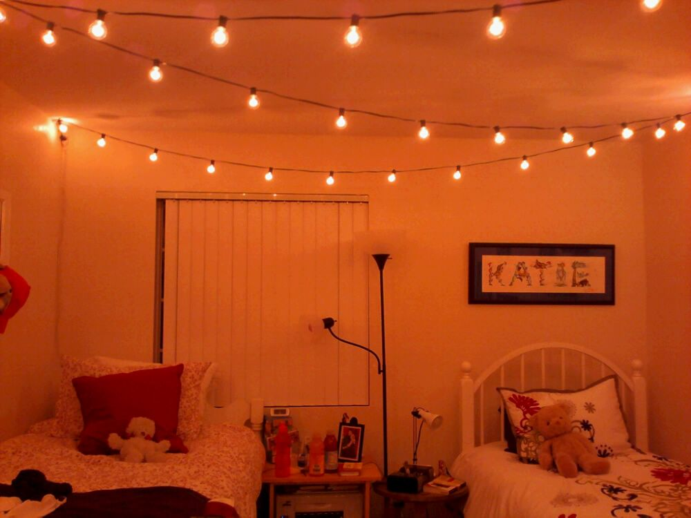 Cute Idea For Dorm Room Even If You Just Used White Christmas Lights! Part 77