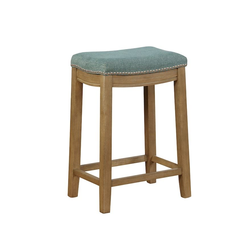 Linon Allure Stain Resistant Nailhead Counter Stool Counter Stools Stool Foot Rest