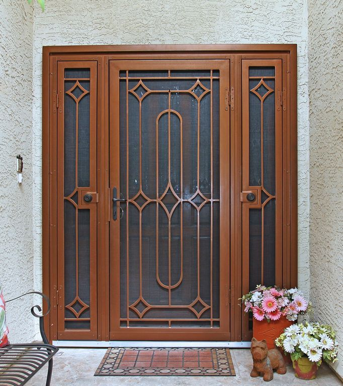 Custom wrought iron security screen doors or storm doors of the highest quality. Contact First Impression Security Doors today! & Trilogy   First Impression Security Doors   Doors   Pinterest ...