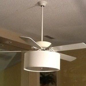 Ceiling Fan Linen Drum Shade Light Kits Ceiling Fan With Light Ceiling Fan Drum Bedroom Ceiling Light