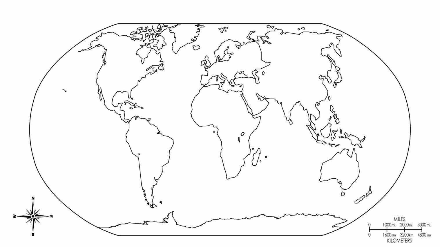 Pages Printable World Map Coloring Page Earth Within New World