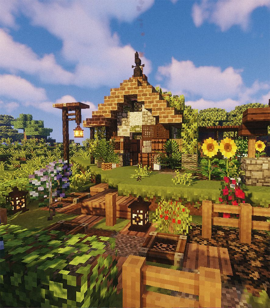 Wheat And Beet Minecraft Houses Minecraft Crafts Cute Minecraft Houses