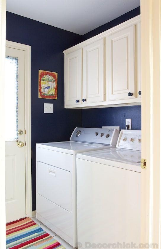 navy blue laundry room makeover blue laundry rooms laundry room design laundry room folding on kaboodle kitchen navy id=68719