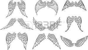 Resultado De Imagen Para Dibujos De Alas De Angel Para Colorear Wings Drawing Cool Drawings Illustration