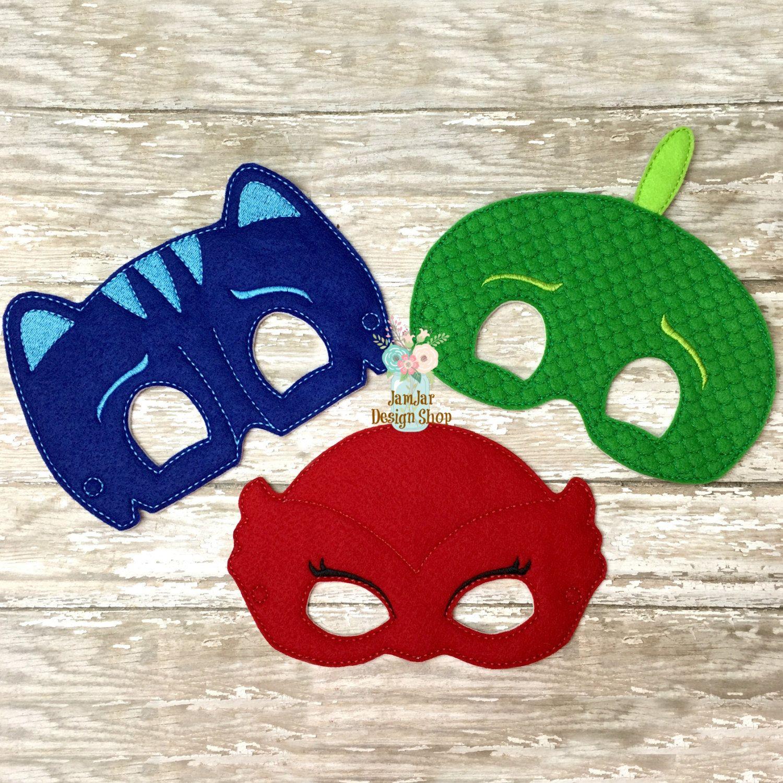 INTRO PRICE 3 Piece Set PJ Super Hero Inspired Mask Blue ...