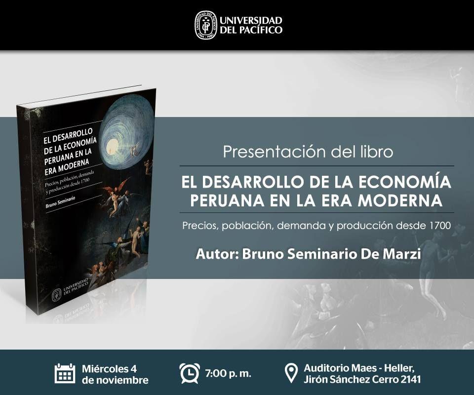 Fondo Editorial de la Universidad del Pacífico. Libro: El desarrollo de la economía peruana en la era moderna - post para redes sociales.