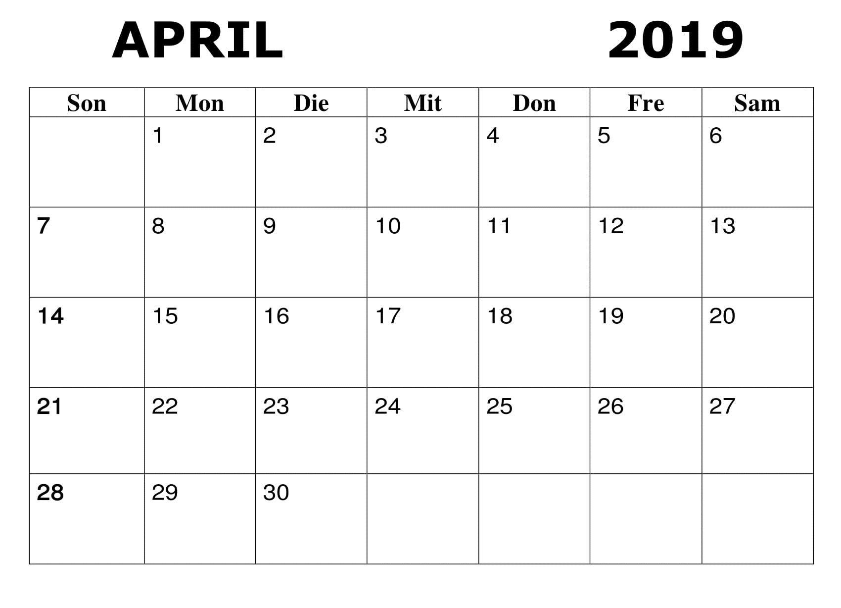 charts april 2019