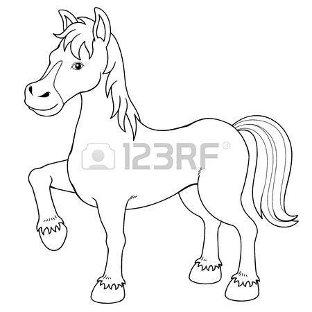 Ilustración de un libro para colorear caballo   arte   Pinterest ...