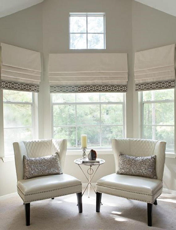 Custom Flat Stationary Roman Shade Or Valance Home Interior