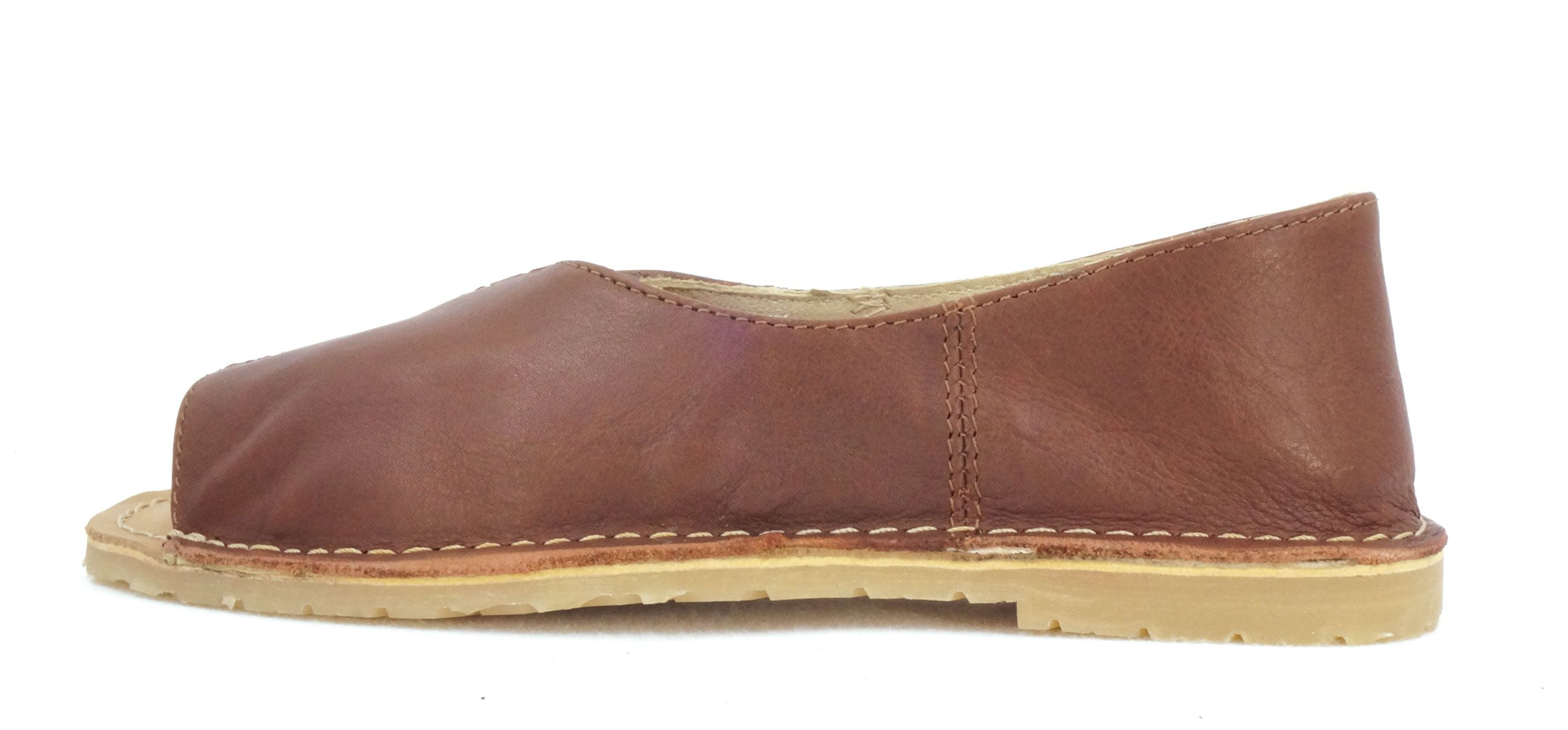 Freestyle Cindy Onspan Brown With Peep Toe Handcrafted Genuine Leather Shoes Genuine Leather Shoes Leather Shoes Woman Handcrafted Shoes