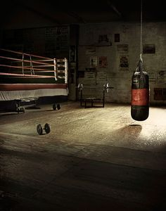 Empty Boxing Gym