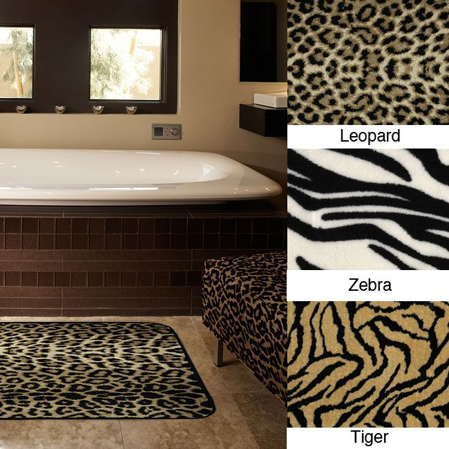 Zebra Print Bathroom Rugs Rug Designs - Zebra bath mat for bathroom decorating ideas