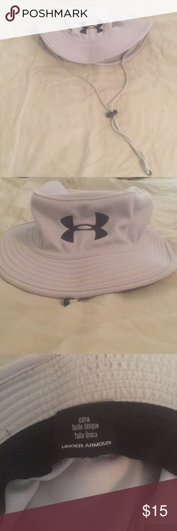 Under Armor Bucket Hat Tan Cream color. Good condition Under Armour  Accessories Hats 14d2063505d