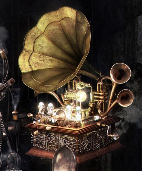 Slightly altered and more steampunk Grammophone
