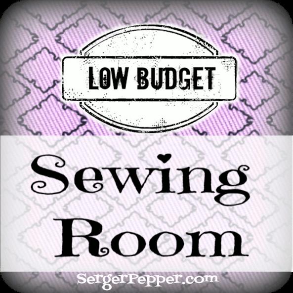 #LowBudget #Sewing Room Re-Do @ SergerPepper.com