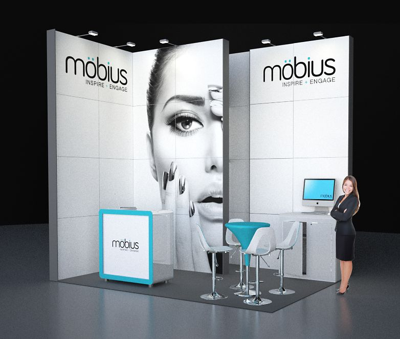 Custom Modular Exhibition Stands : Image möbius m modular exhibition stand without the custom