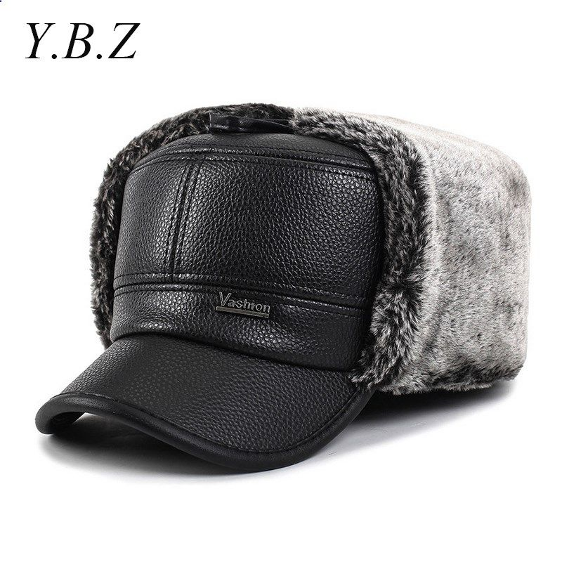 YBZ 2016 Unisex baseball caps with ears motorcycle cap golf hat waterproof  casual winter hat warm caps for men OT15 09801144024