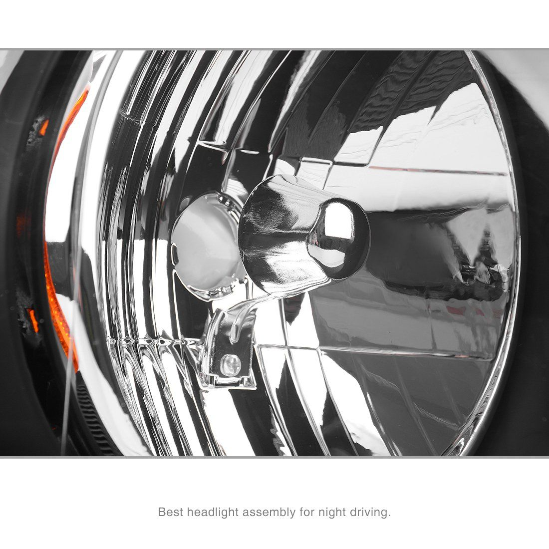 For Ford F150 Pickup 2004 2008 Headlight Black Housing Amber Reflector Clear Lens Passenger Ford F150 Pickup Ford F150 Reflectors