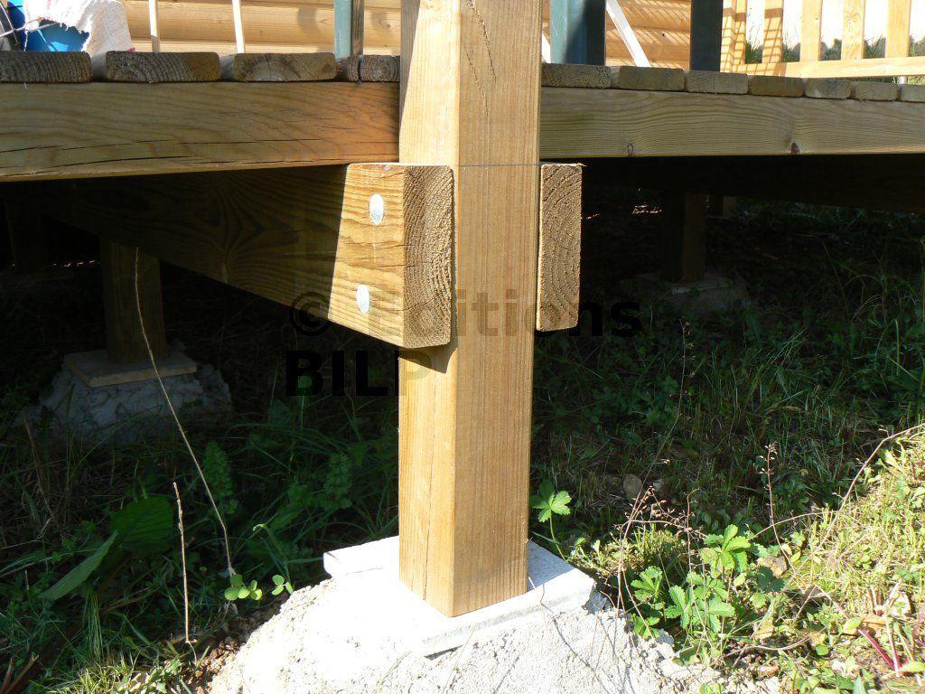 d tail d un moisage sur poteau terrasse pinterest terrasse bois bois et poteau. Black Bedroom Furniture Sets. Home Design Ideas