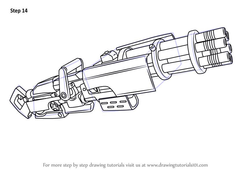 9 Fortnite Drawing Minigun For Free Download On Ayoqq Lovable Tutorials How To Draw A Minigun Drawings Fortnite Draw