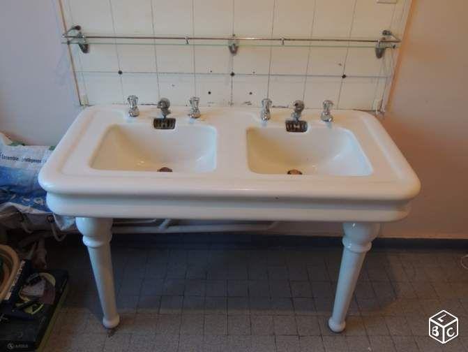 rare lavabo ancien ann e 30 loft jielde ameublement territoire de belfort. Black Bedroom Furniture Sets. Home Design Ideas