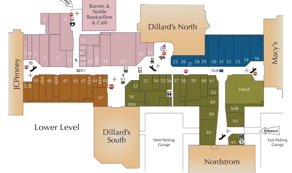 Oak Park Mall Shopping Plan Oak Park Mall Oak Park Overland Park Kansas