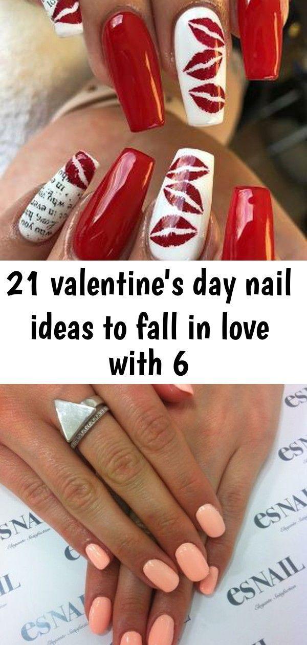 21 Nagelideen zum Valentinstag zum Verlieben 6, #Tag #Herbst #Ideen #Liebe #Nagel #Valentin …