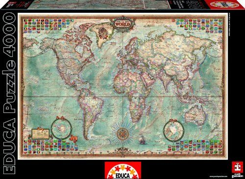 4000 piece the world executive puzzle educa borras puzzlehttp 4000 piece puzzle the world map gumiabroncs Gallery