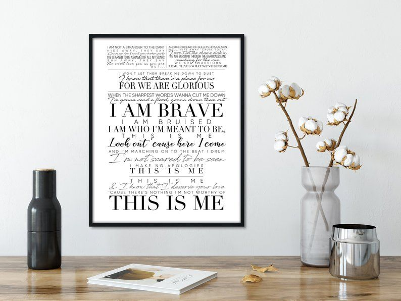 The Greatest Showman This Is Me Song Lyric Art Hugh Jackman