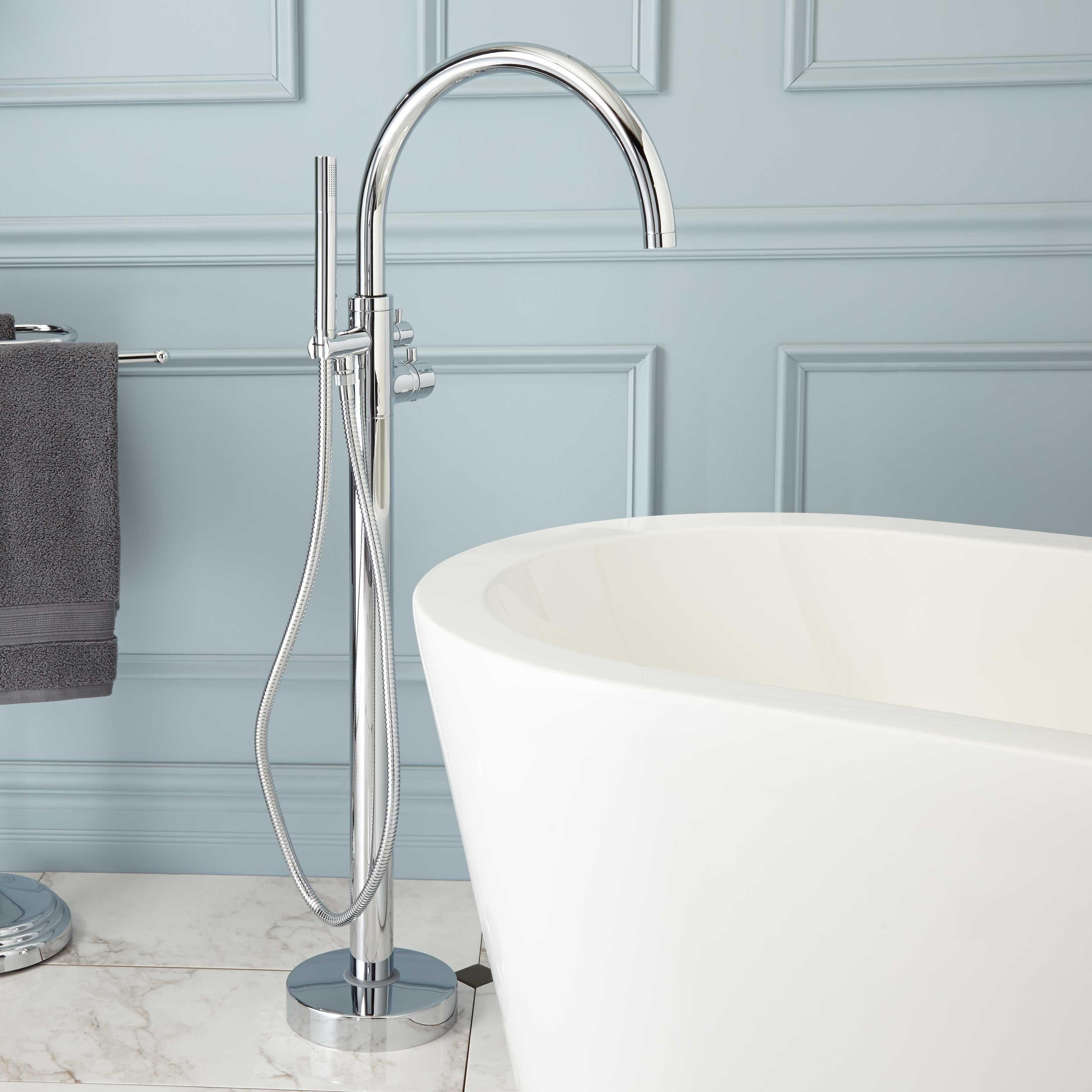 Linnea Freestanding Thermostatic Tub Faucet | TMP Masterbath ...